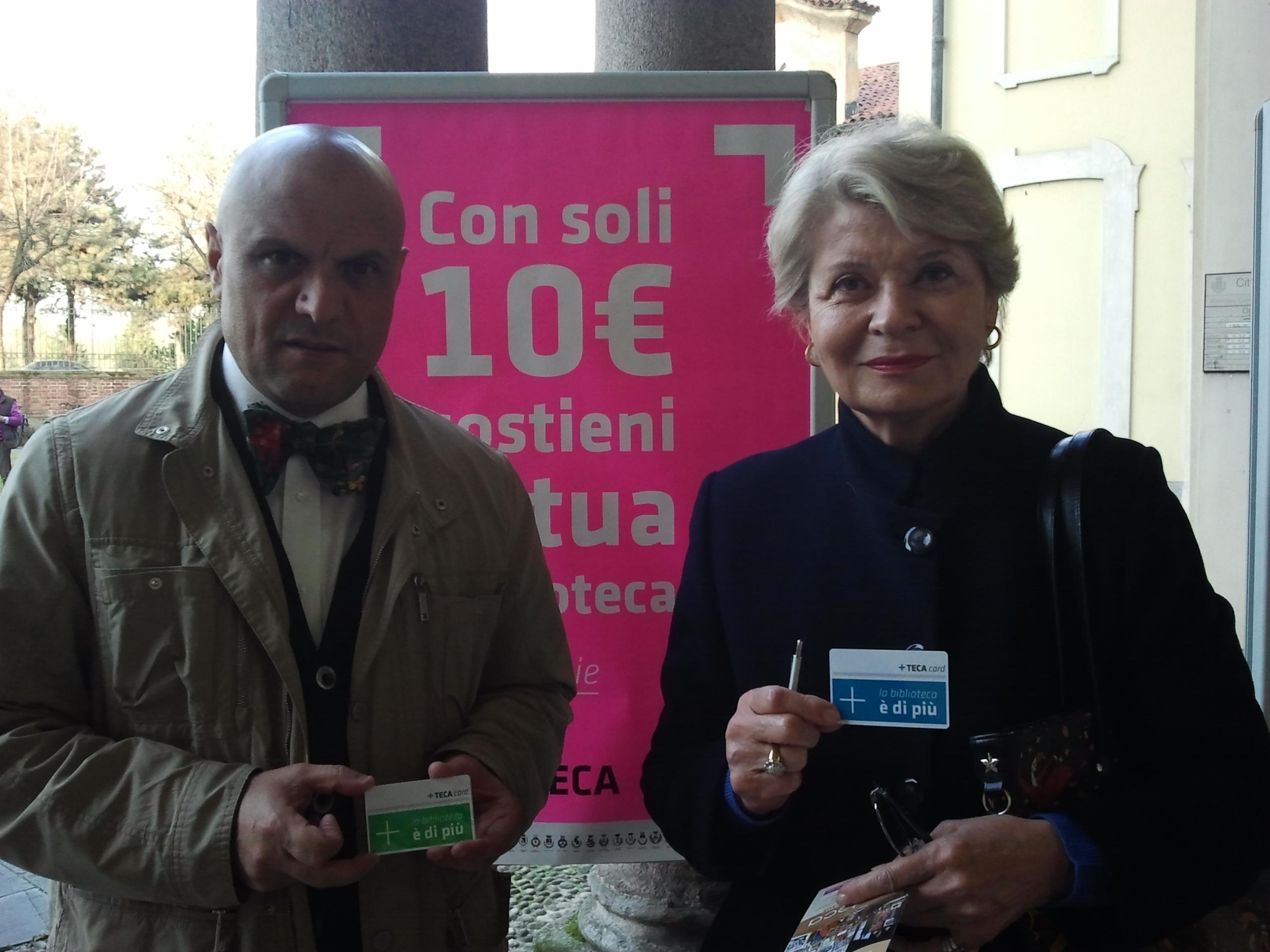 L'assessore alla cultura Giuseppe Scarfone e Sveva Casati Modignani