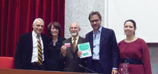 Il primo è Francesco Giglio, l'assessore alla cultura Rita Innocenti, Nerio Agostini presidente del Cda, Massimo Recalcati  e Roberta Perego assessore all'Educazione e politiche sociali e sanitarie.