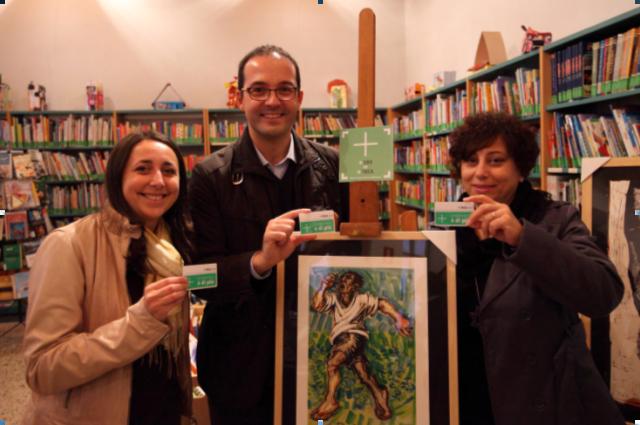 Foto: Da sinistra Arch. Monica Beretta Assessore alla Cultura, Ing. Diego Manenti Sindaco e Giovanna Pranio vicesindaco.